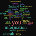 Word cloud of Defra content.